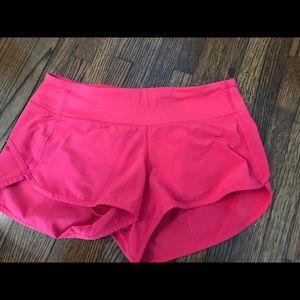 Hot Pink Lululemon Speed Shorts Size 4